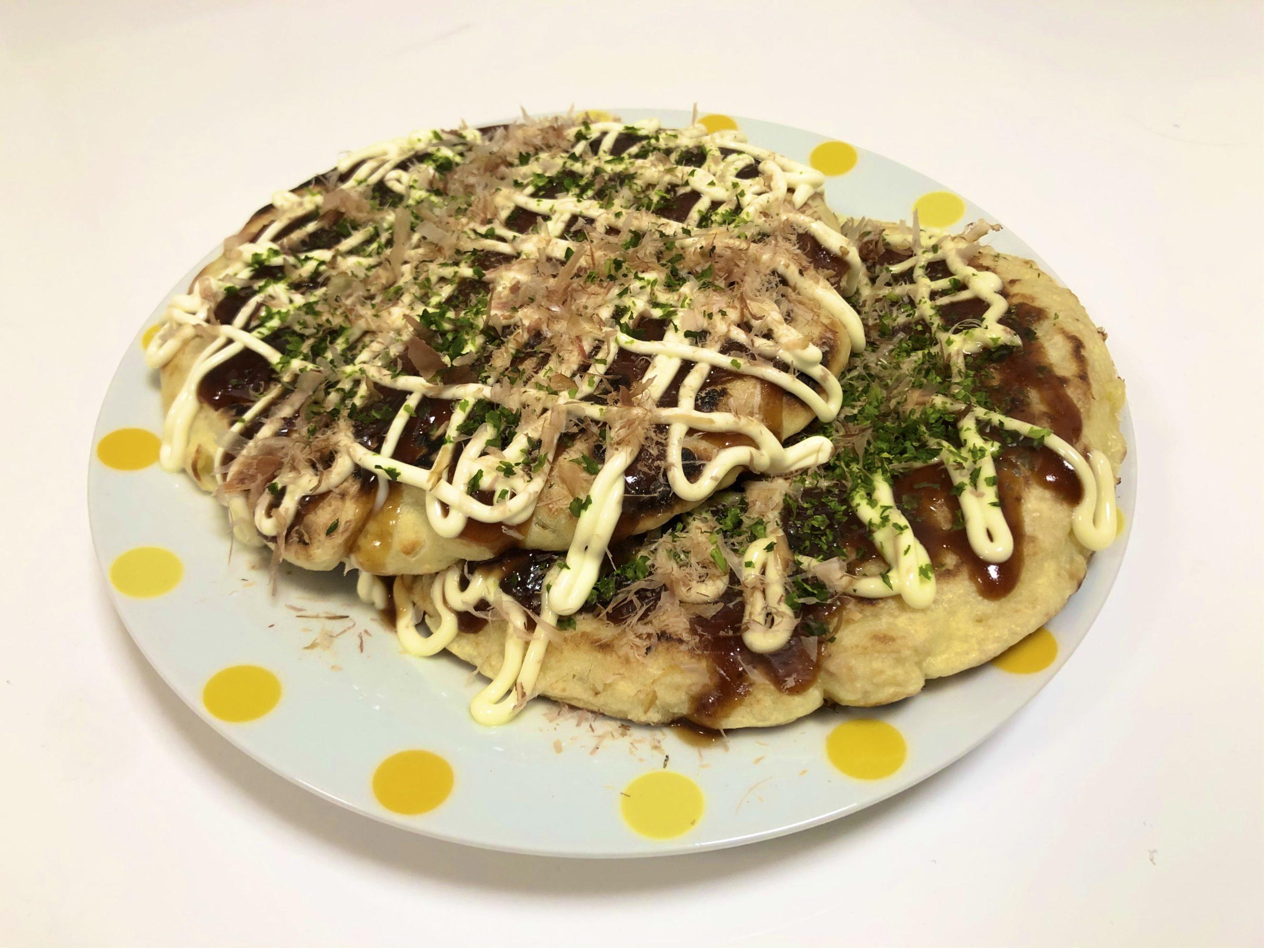 【節約料理】120円で満腹お好み焼き!